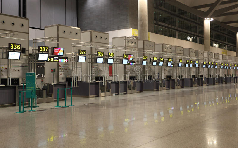 Download Empty Airport Check-in Counters Editorial Photography - Image: 26175102
