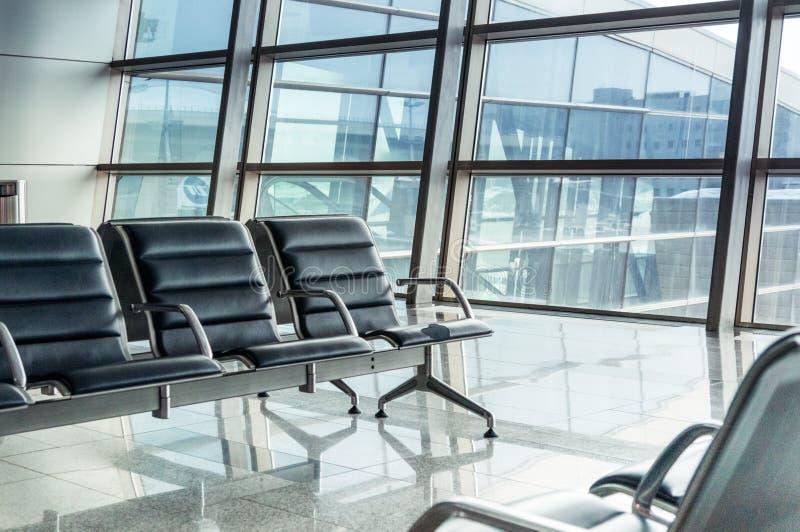 Empty Airport Terminal Stock Photo