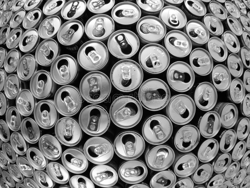 empty aluminum cans royalty free stock image