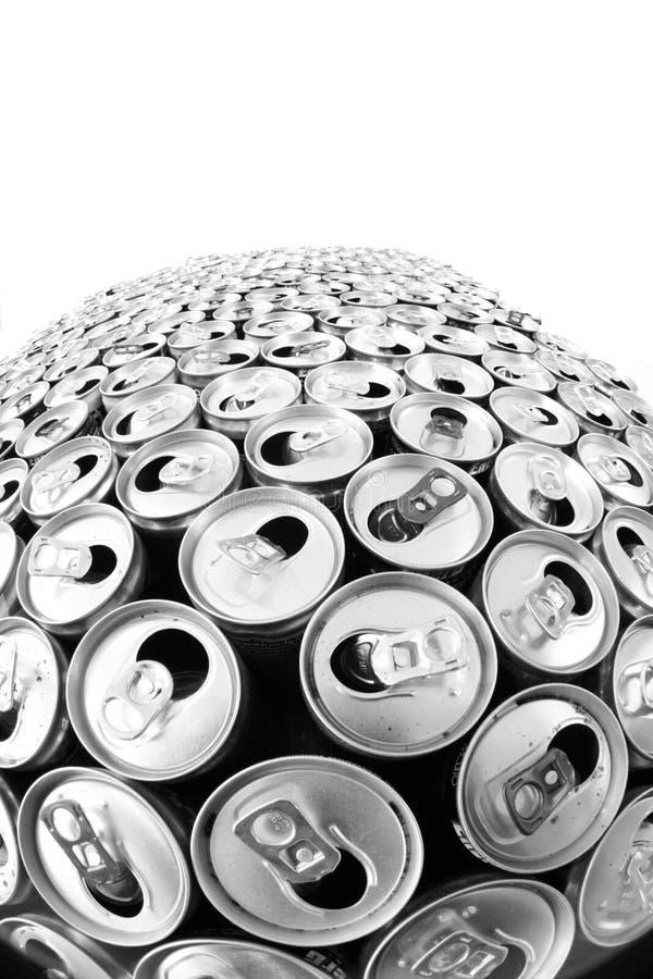 empty aluminum cans stock photo