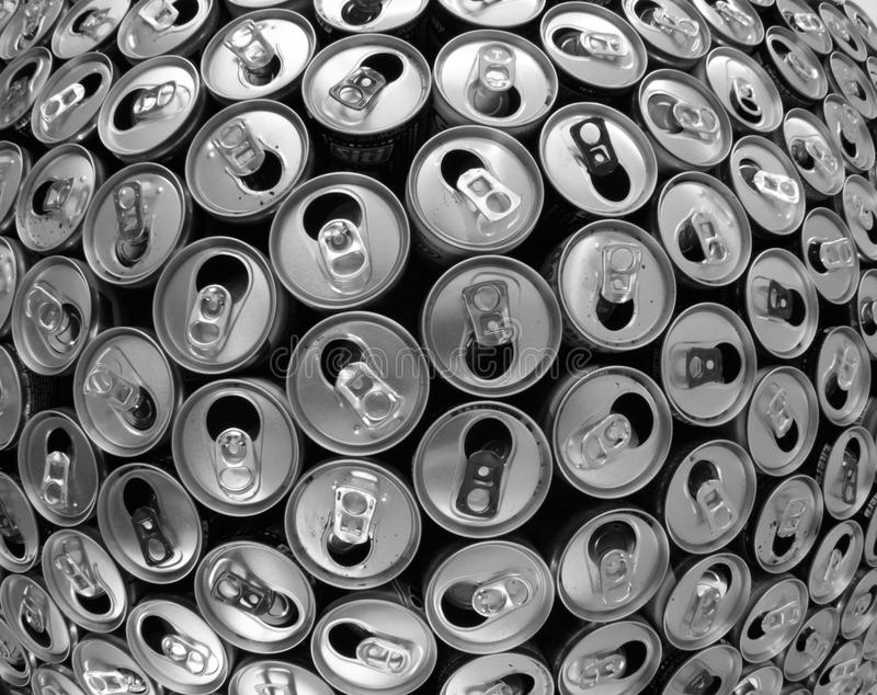 empty aluminum cans stock photos
