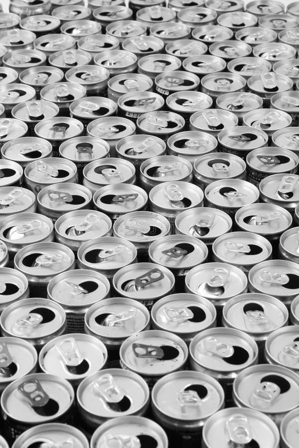 empty aluminum cans royalty free stock photos