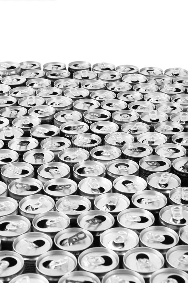 empty aluminum cans royalty free stock photography