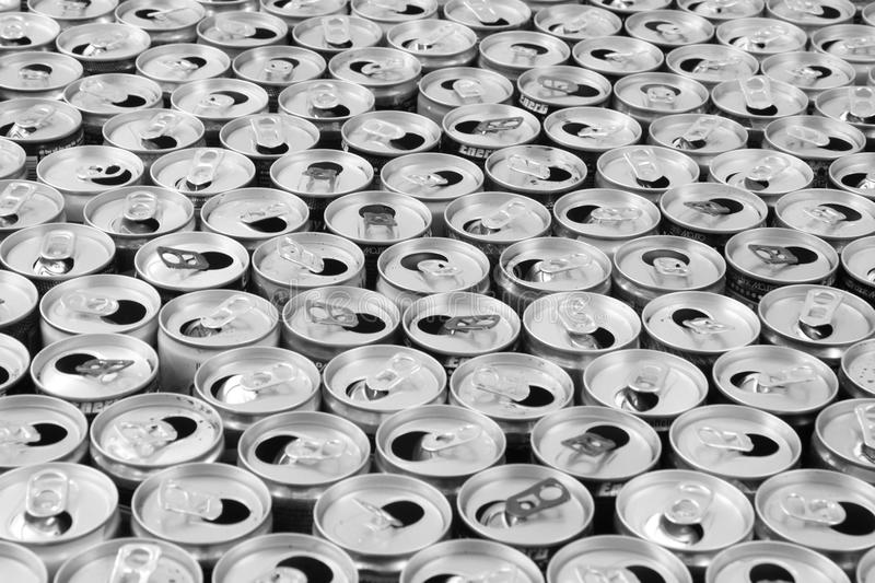empty aluminum cans stock image