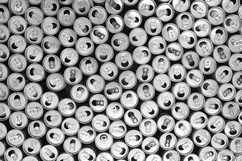 empty aluminum cans stock photography