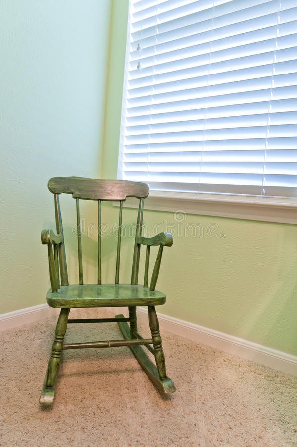 Download Empty Antique Child's Rocking Chair Stock Image - Image: 19268429
