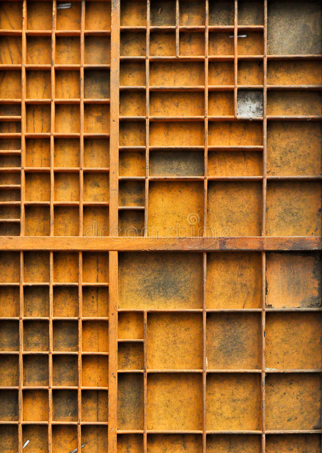Empty antique shelf in portrait mode royalty free stock images