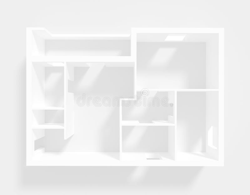 Empty apartment vector illustration