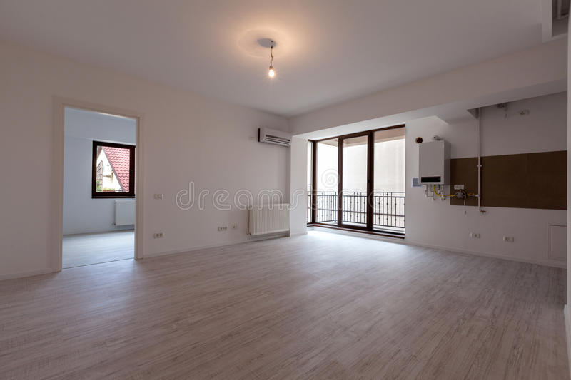 Empty apartment stock photos