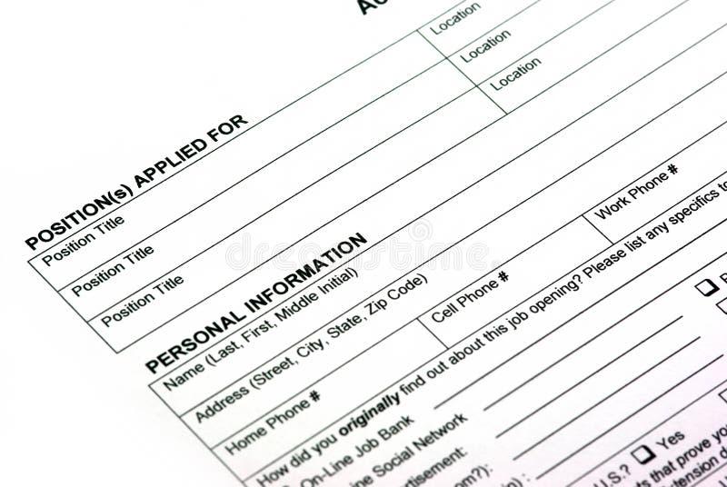 Empty Application Form Stock Image Image Of Empty Declaration