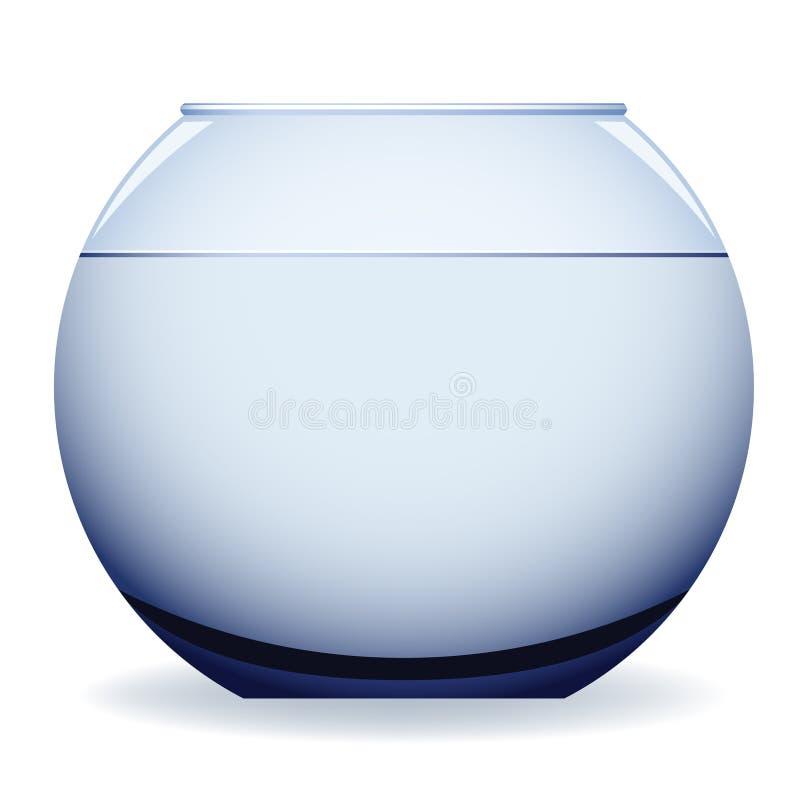 Empty aquarium vector illustration