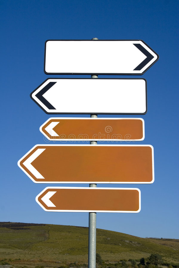 Empty arrow signs royalty free stock image