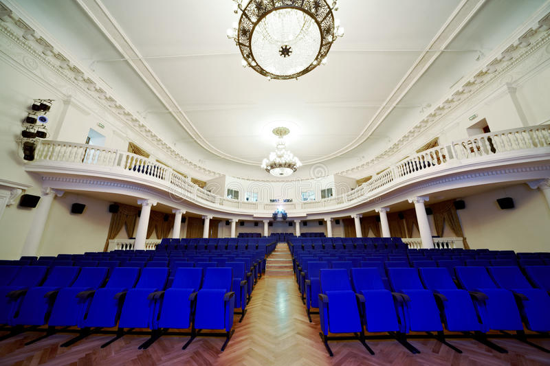 Download Empty Auditorium With Rows Of Chairs. Stock Image - Image: 20698491