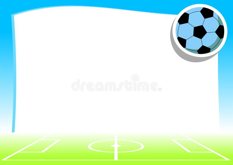 Empty Background With Football Theme Stock Images