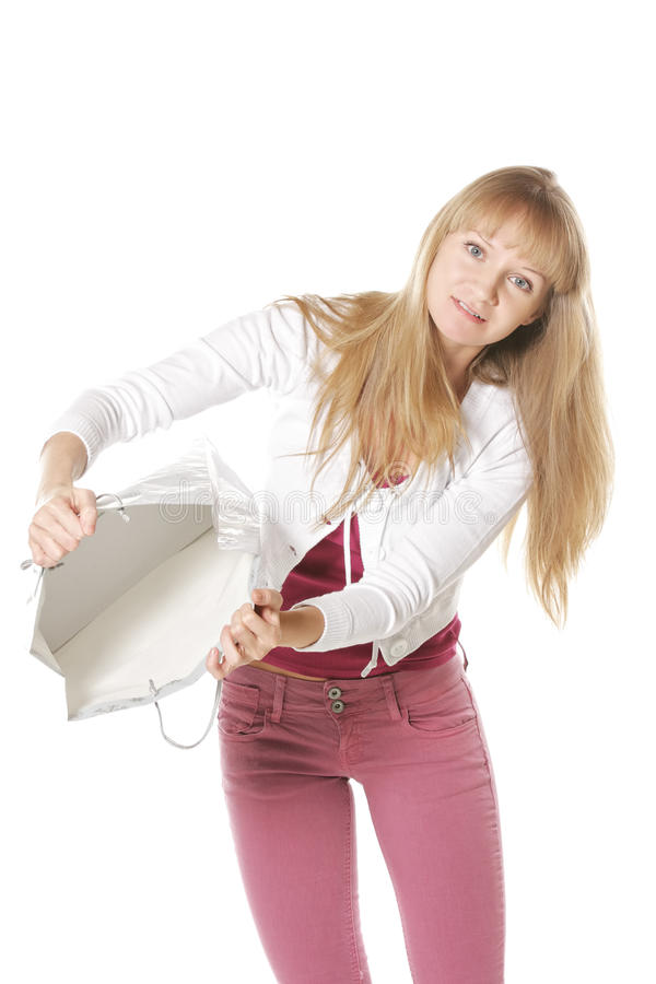 Download Empty bag stock photo. Image of woman, examining, nothing - 25345134
