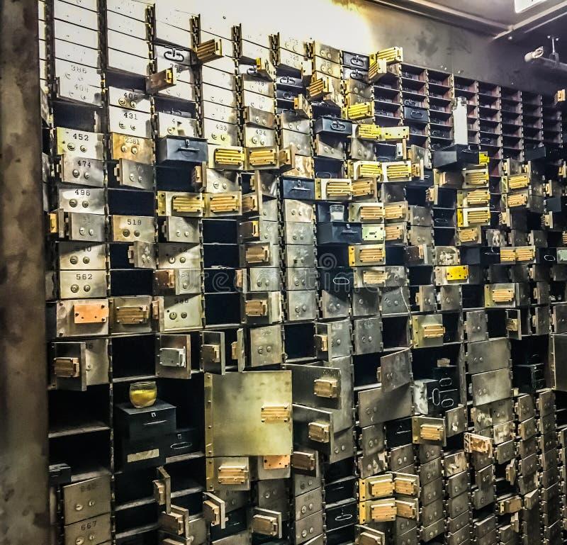 Empty bank vault. Safe deposit stock image