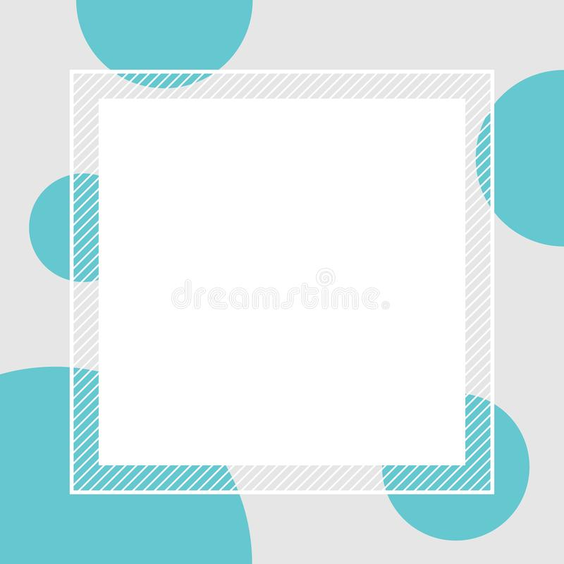 Empty banner frame polka dot blue colors pastel for background, banner frame polka dot pastel blue colors copy space advertising royalty free illustration