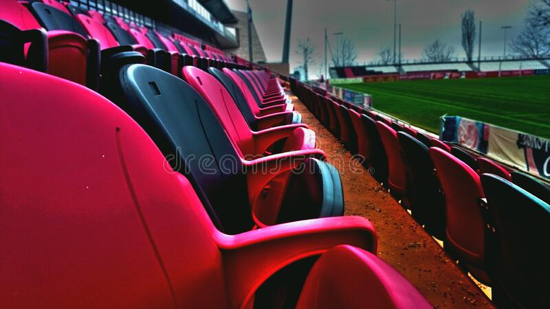 Empty Baseball Stadium Seats Free Public Domain Cc0 Image