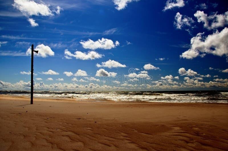 Empty beach stock photography