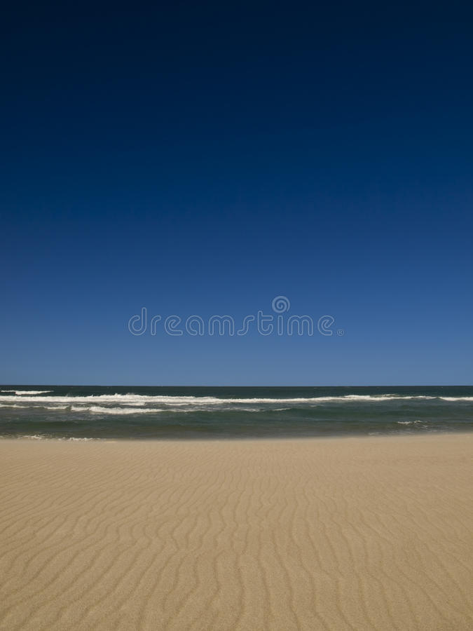Empty beach. On the shores of the ocean royalty free stock images