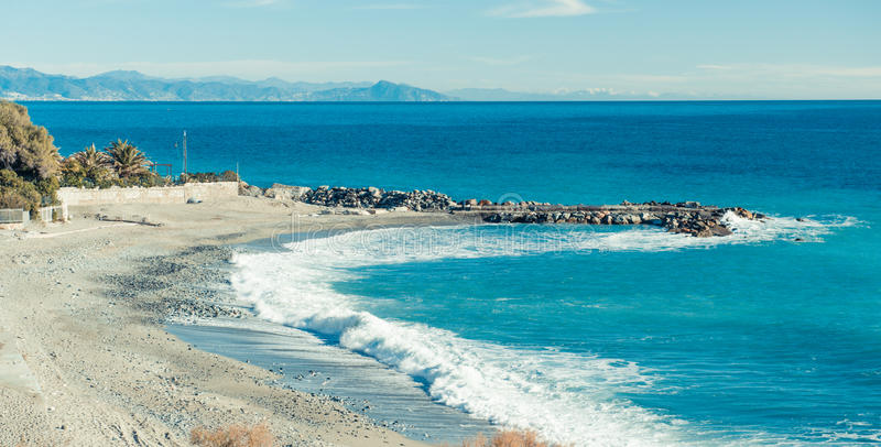 Download Empty beach stock image. Image of mediterranean, point - 28508053
