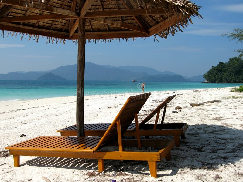 Download Empty beach stock photo. Image of beach, boat, alone, chair - 418904