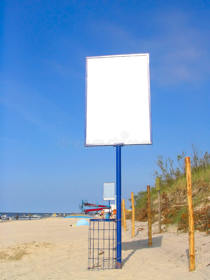 Download Empty beach advert stock photo. Image of blank, commercial - 239664