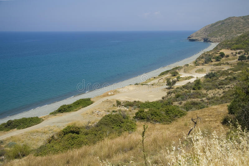 Download Empty beach on Cyprus stock photo. Image of shore, cyprus - 19882110