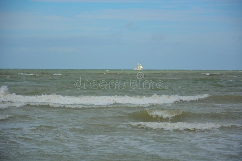Empty beach at the northsea. In Ostend Belgium stock photos