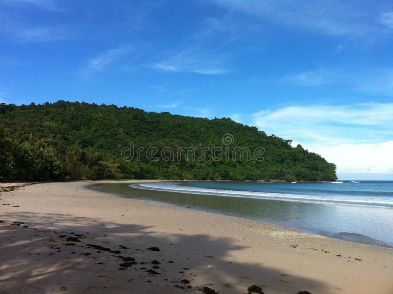 Empty beach in Phillipines. Empty nice beach in Phillipines not cleand stock photo