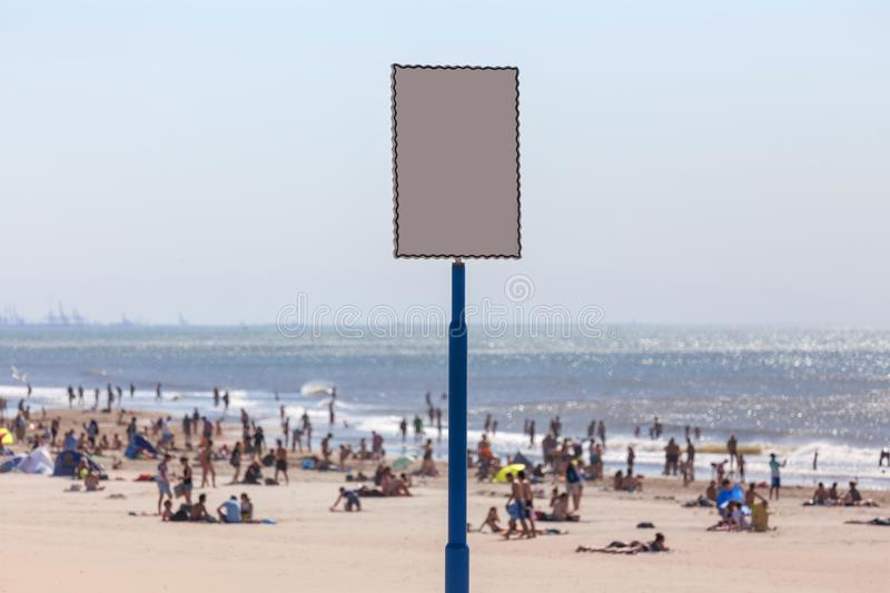 Empty beach sign background. An empty beach sign background royalty free stock images