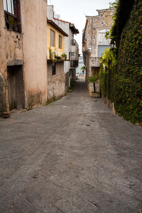 Empty beach street. In Brazil royalty free stock images