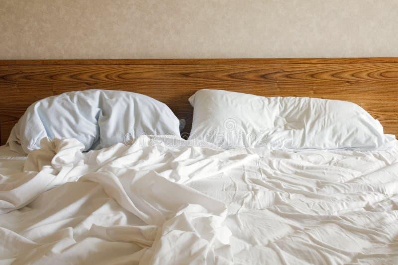 Empty bed stock image