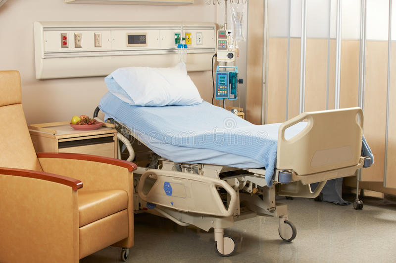 Empty Bed On Hospital Ward. Indors royalty free stock image