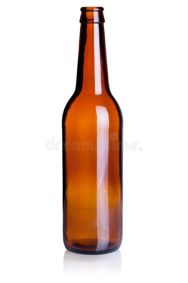 Empty beer bottle royalty free stock image