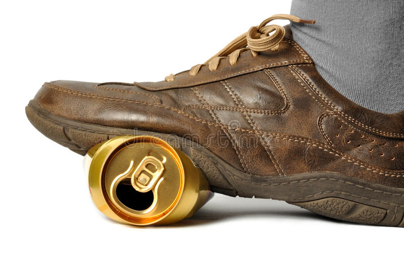 Download Empty Beer Can stock image. Image of shoe, isolated, empty - 16638945