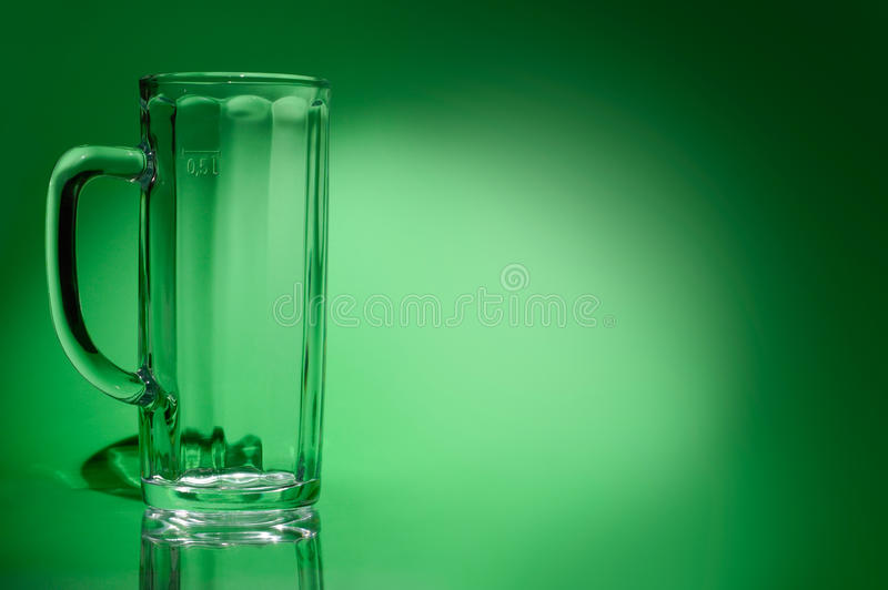 Download Empty Beer Glass stock photo. Image of beverage, green - 13366714
