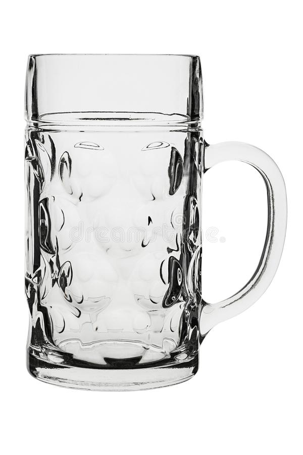 Empty beer glass. Isolated on white background. file contains clipping path stock photo