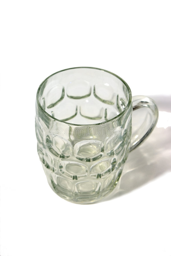 Empty beer mug stock image