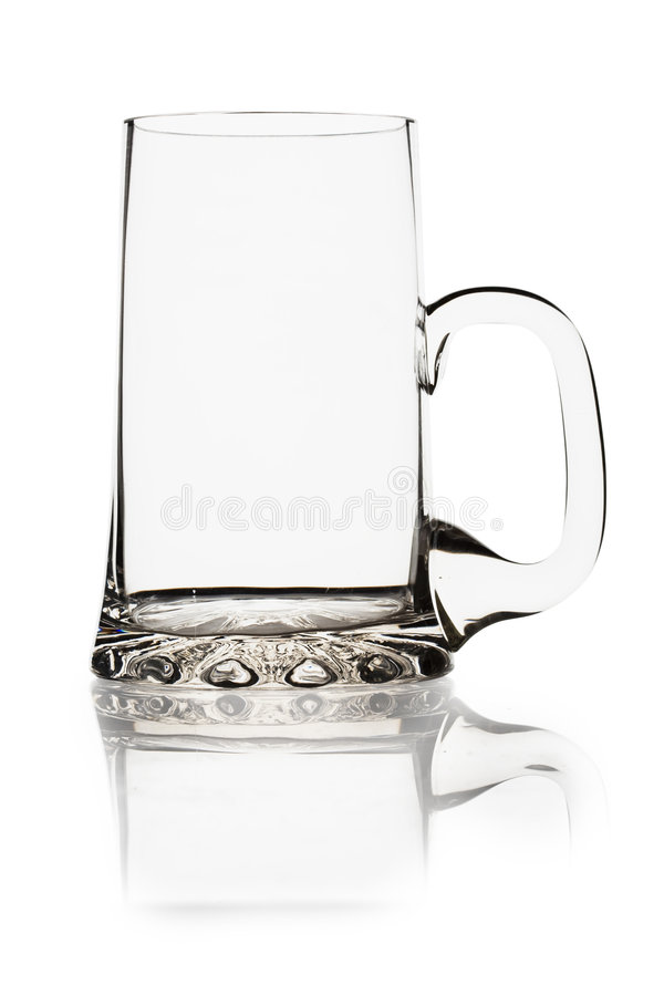 Empty beer mug stock photography
