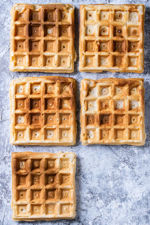 Empty Belgian waffles royalty free stock images