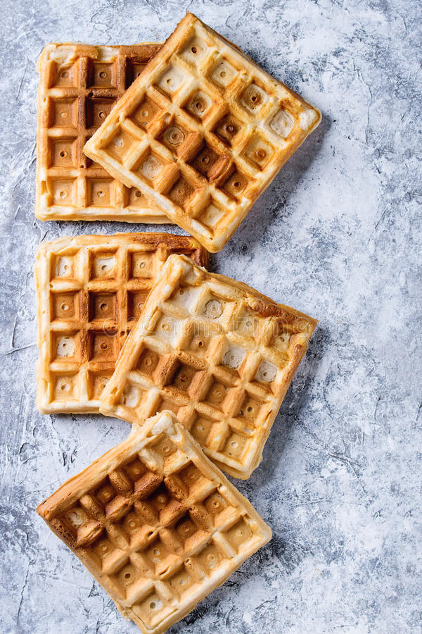 Empty Belgian waffles royalty free stock photos