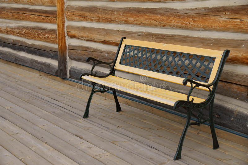 Download Empty Bench Log Cabin stock photo. Image of barn, brown - 32223338