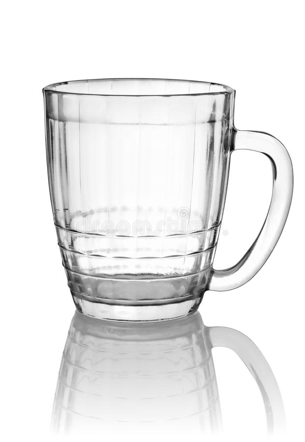Empty big beer glass(0) royalty free stock photo
