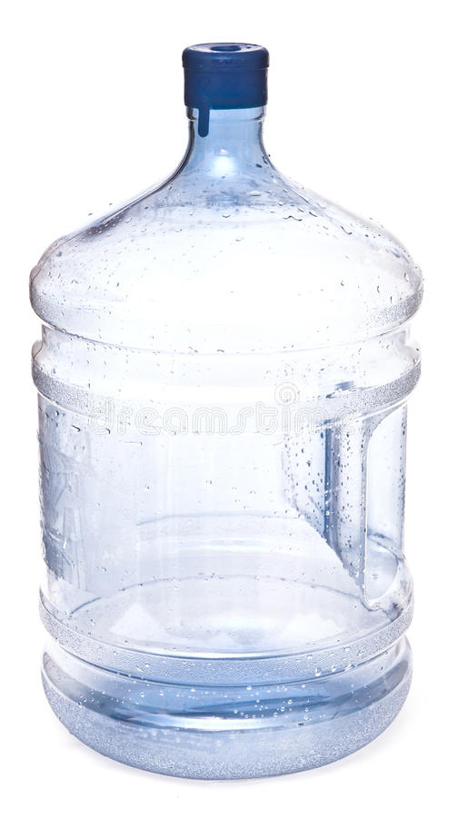 Empty big plastic bottle for potable water stock photography