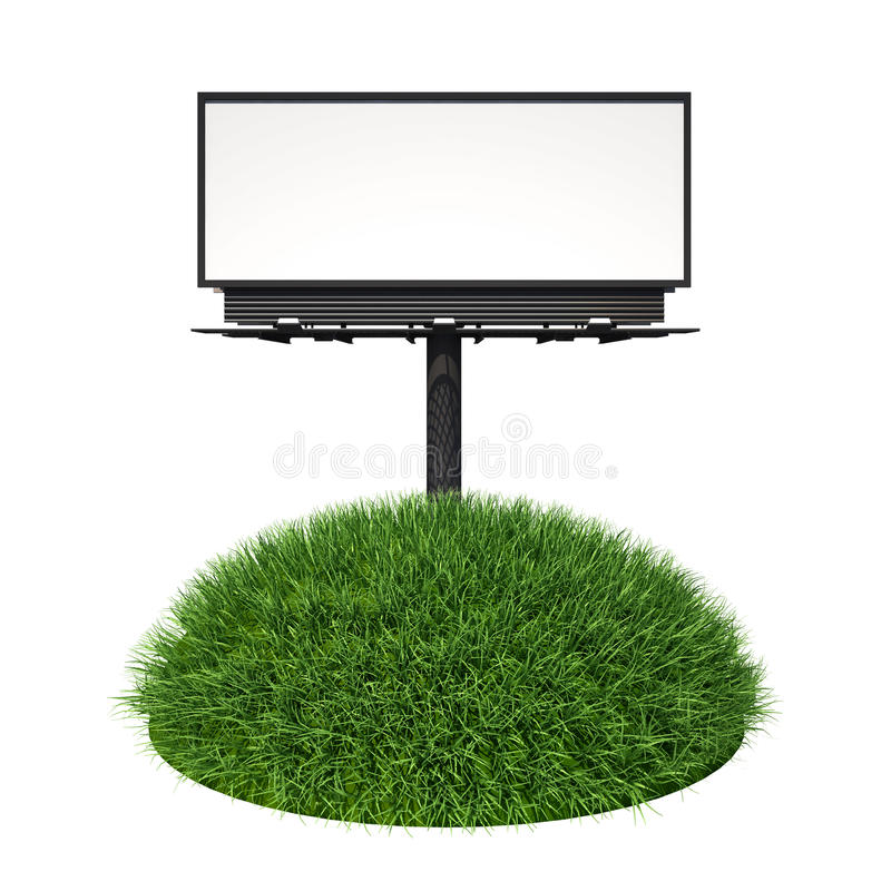 Download Empty billboard with grass stock illustration. Image of field - 20382212
