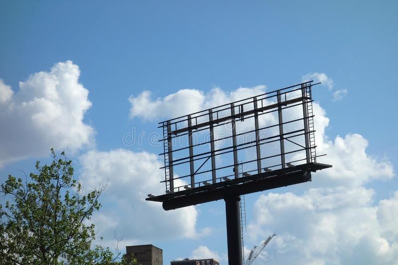 Empty Billboard stock photography