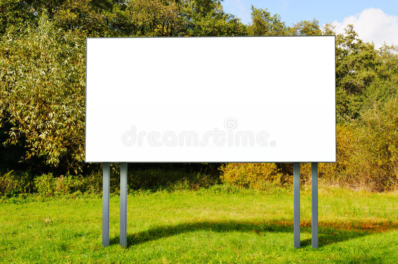 Download Empty Billboard Standing In A Field Stock Photo - Image of information, display: 34071966
