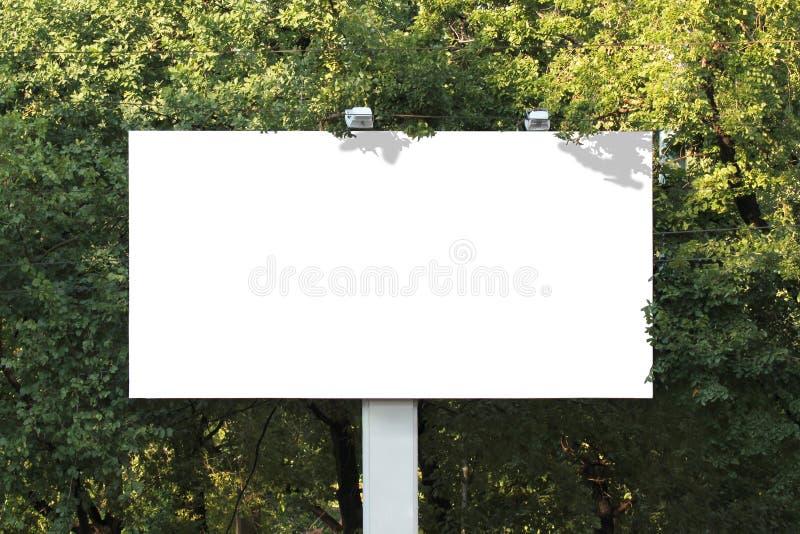 Empty billboard royalty free stock image