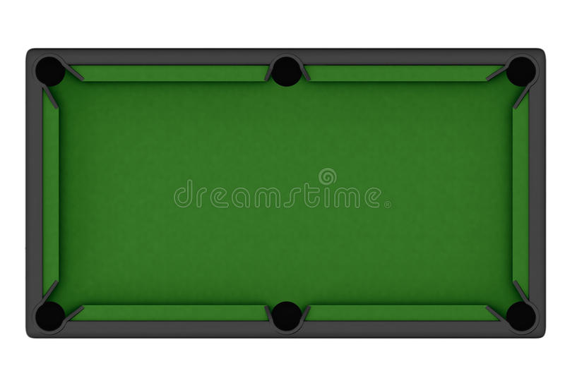 Empty Billiard table stock illustration